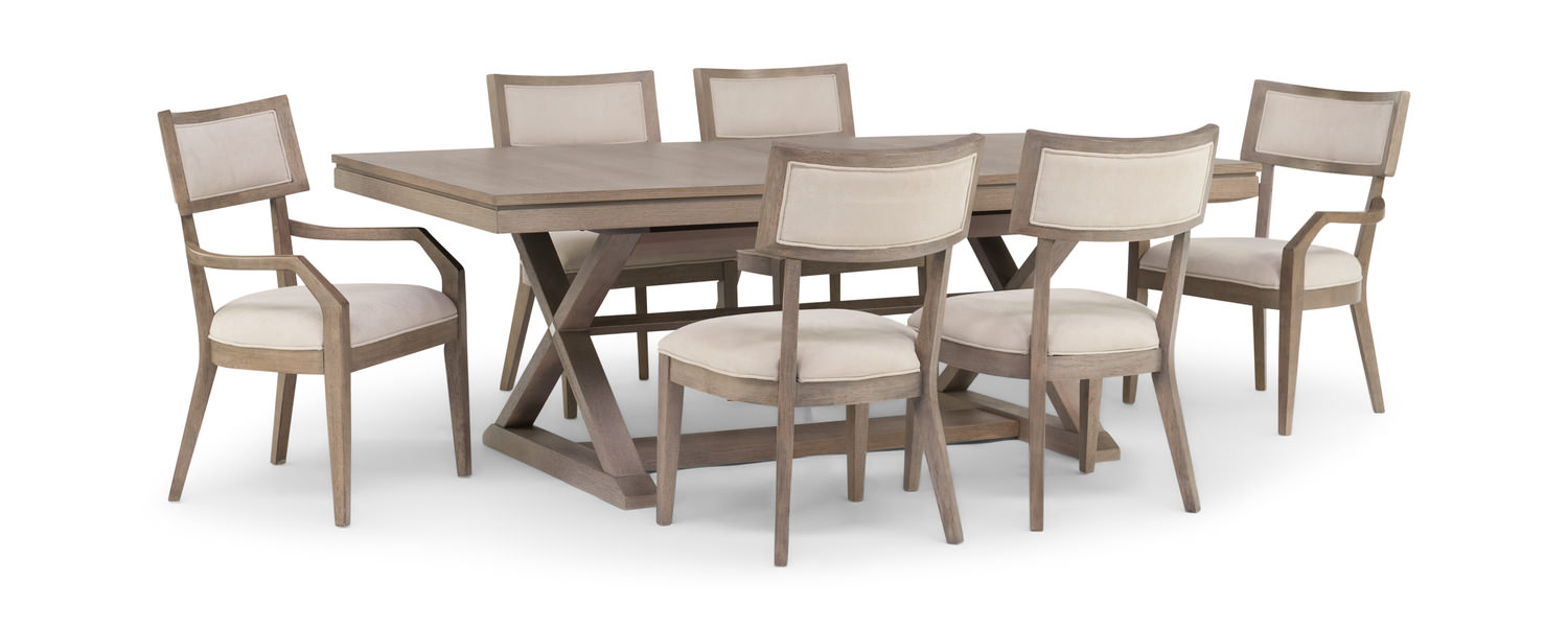 ba3ecdfef3aac Highline Trestle Table With 4 Klismo Dining Chairs And 2 Klismo Arm Chairs  ...