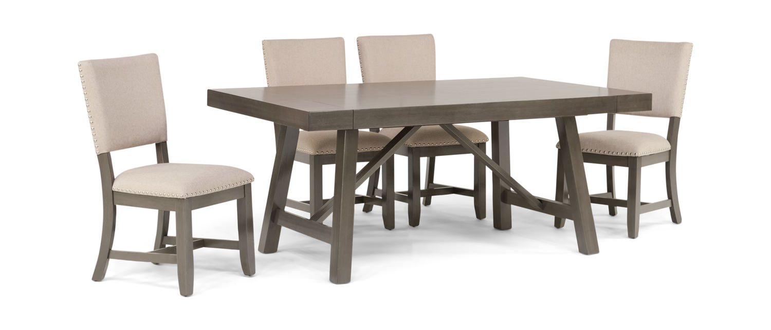 Superb Omaha Dining Table With 4 Upholstered Chairs Unemploymentrelief Wooden Chair Designs For Living Room Unemploymentrelieforg