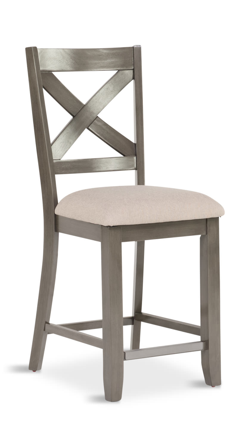 Omaha X Back Counter Stool Hom Furniture