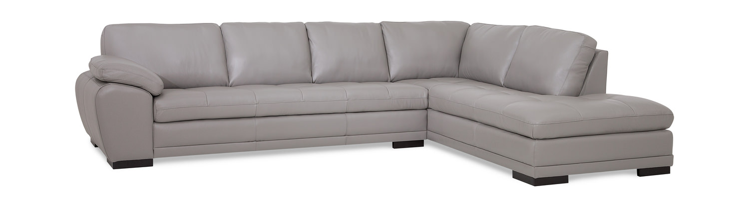 Miami 2 Piece Leather Modular Sectional