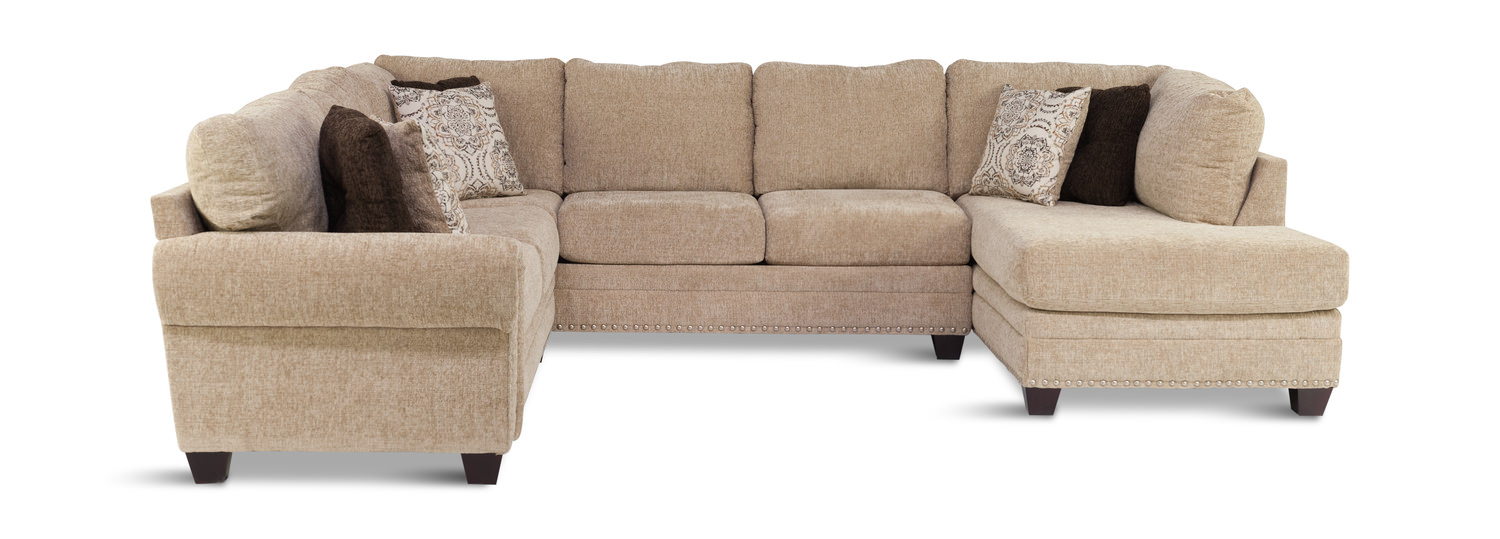Oates 3 piece sectional by furniture direct hom furniture