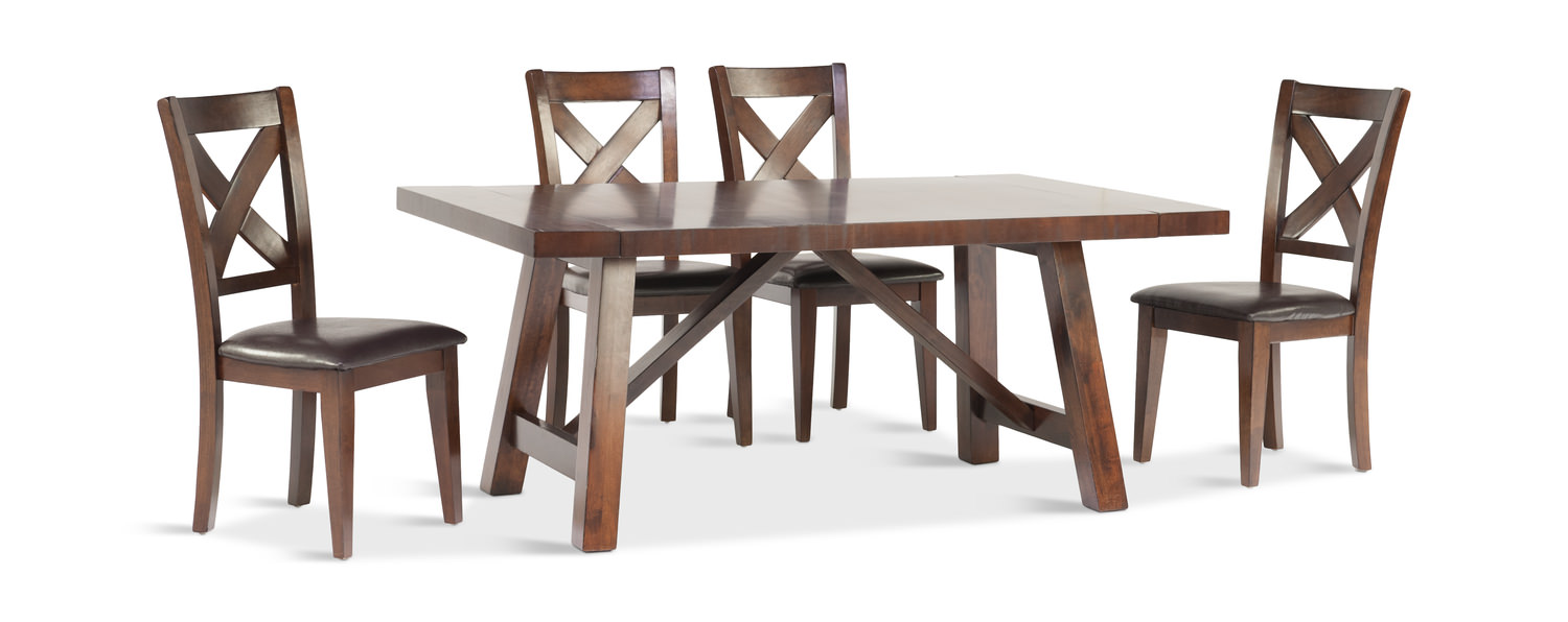 Colonial Table And 4 Side Chairs By Thomas Hom Furniture