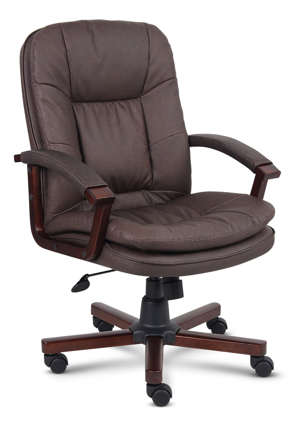 Stupendous Brown Bomber Leather Office Chair Interior Design Ideas Inesswwsoteloinfo