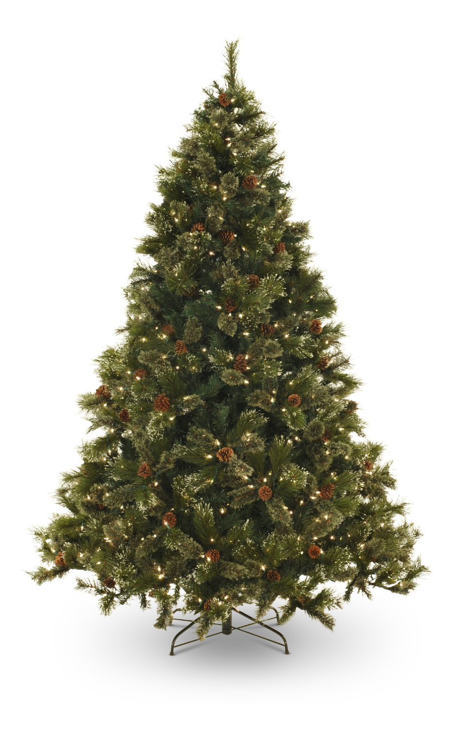 oregon pine 75 pre lit artificial christmas tree with a led lights - Pre Lit Decorated Christmas Trees