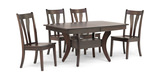 Covina Table And 4 Side Chairs Hom Furniture