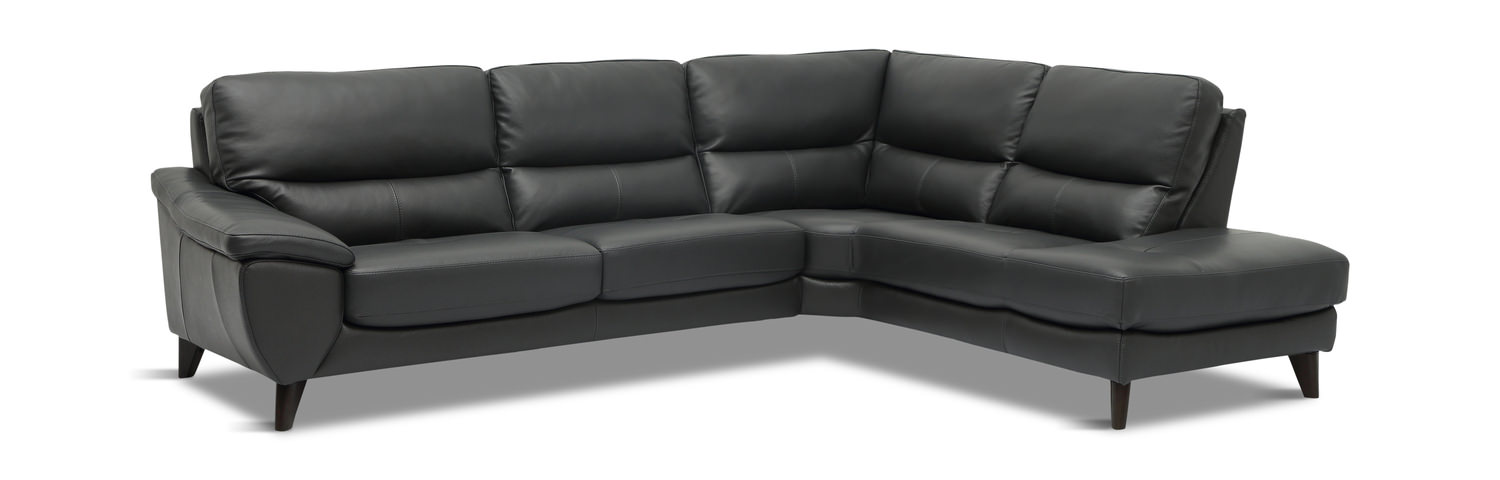 Zari 2 Piece Leather Modular Sectional