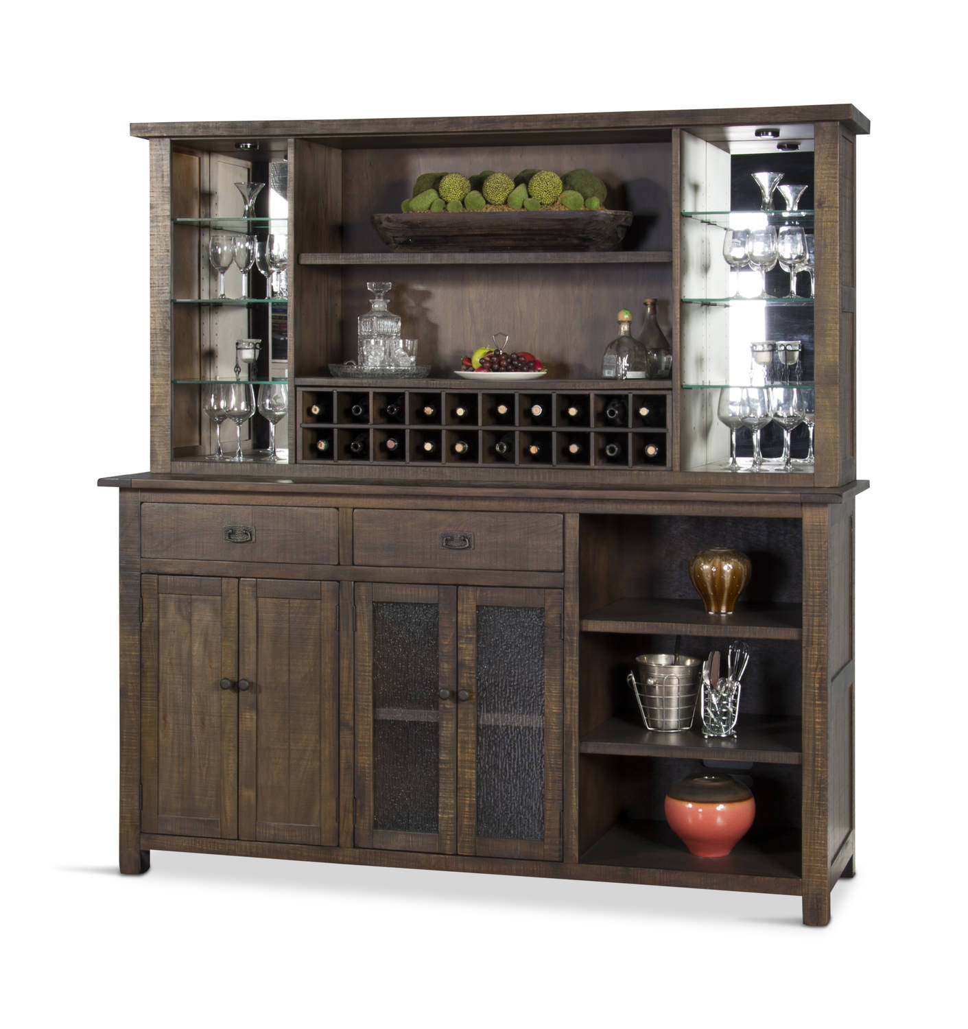 Homestead Back Bar With Hutch Hom Furniture