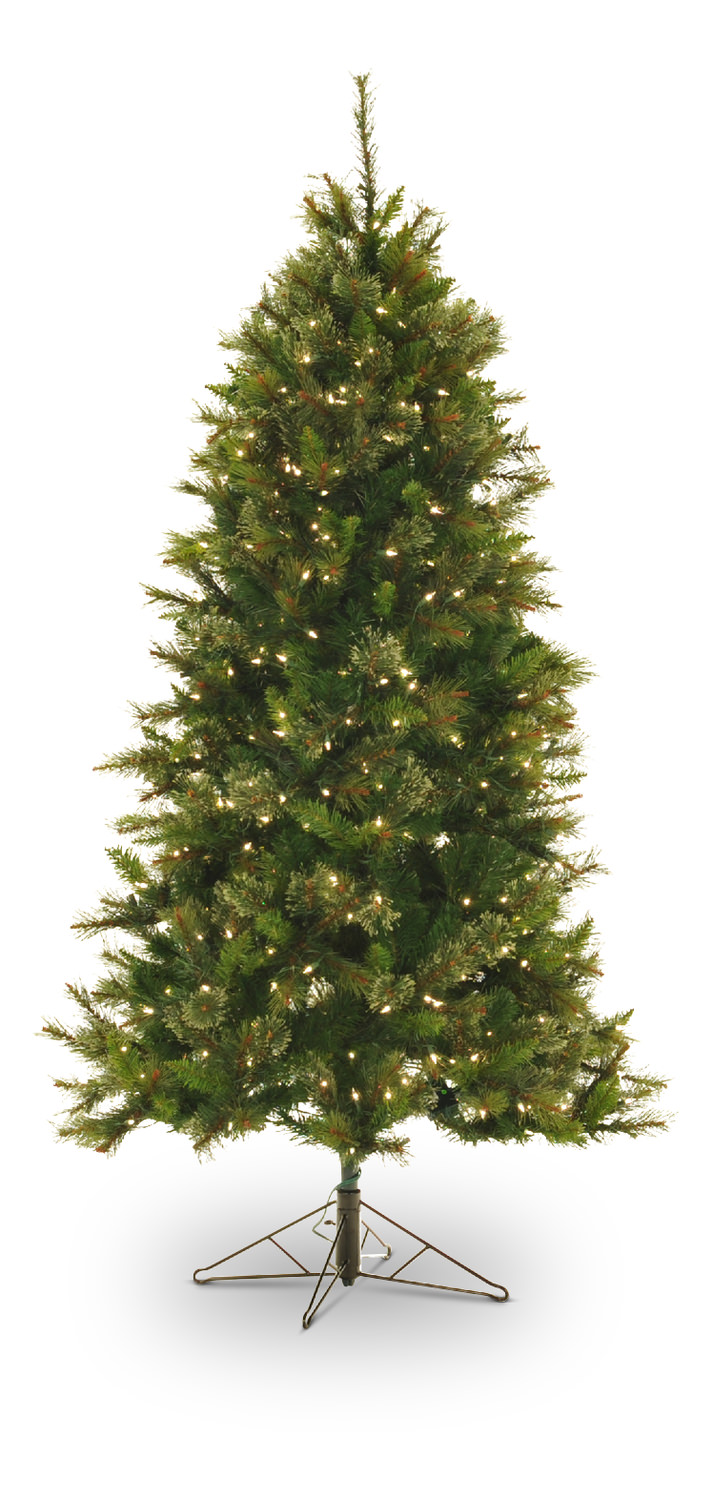 northwoods pine 65 pre lit artificial christmas tree with clear lights