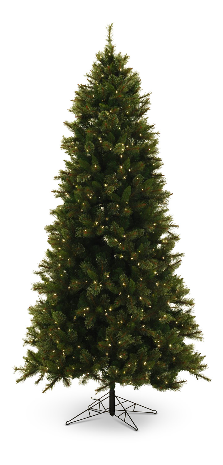 Northwoods Pine 9′ Pre-lit Artificial Tree | HOM Furniture