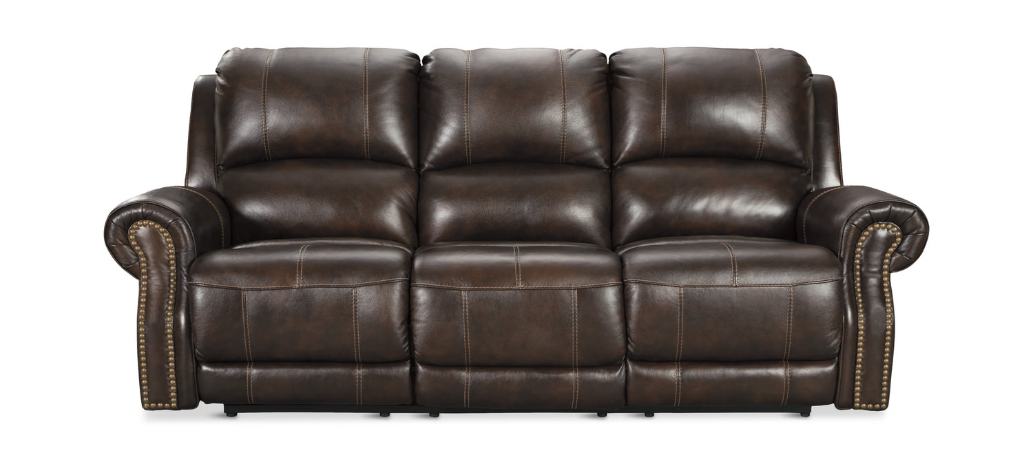 Walden Leather Power Reclining Sofa