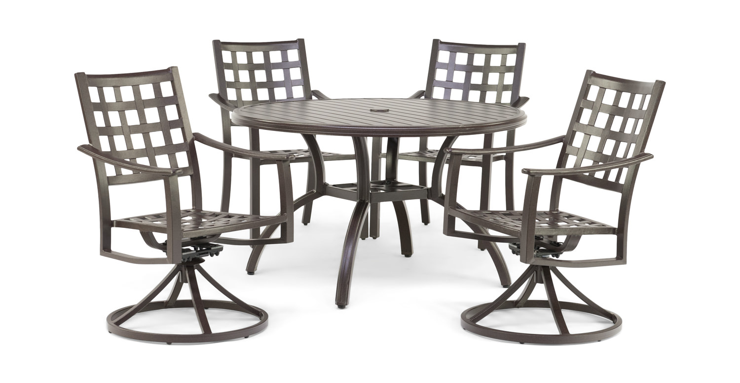 Summit 5 Piece Patio Dining Set By