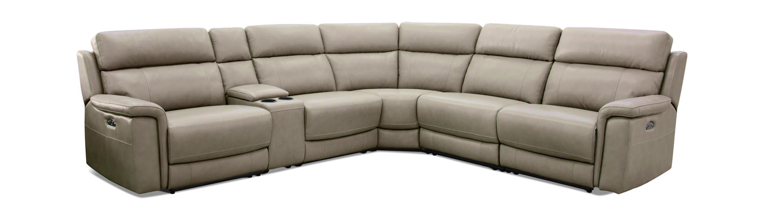 Austen 6 Piece Leather Reclining