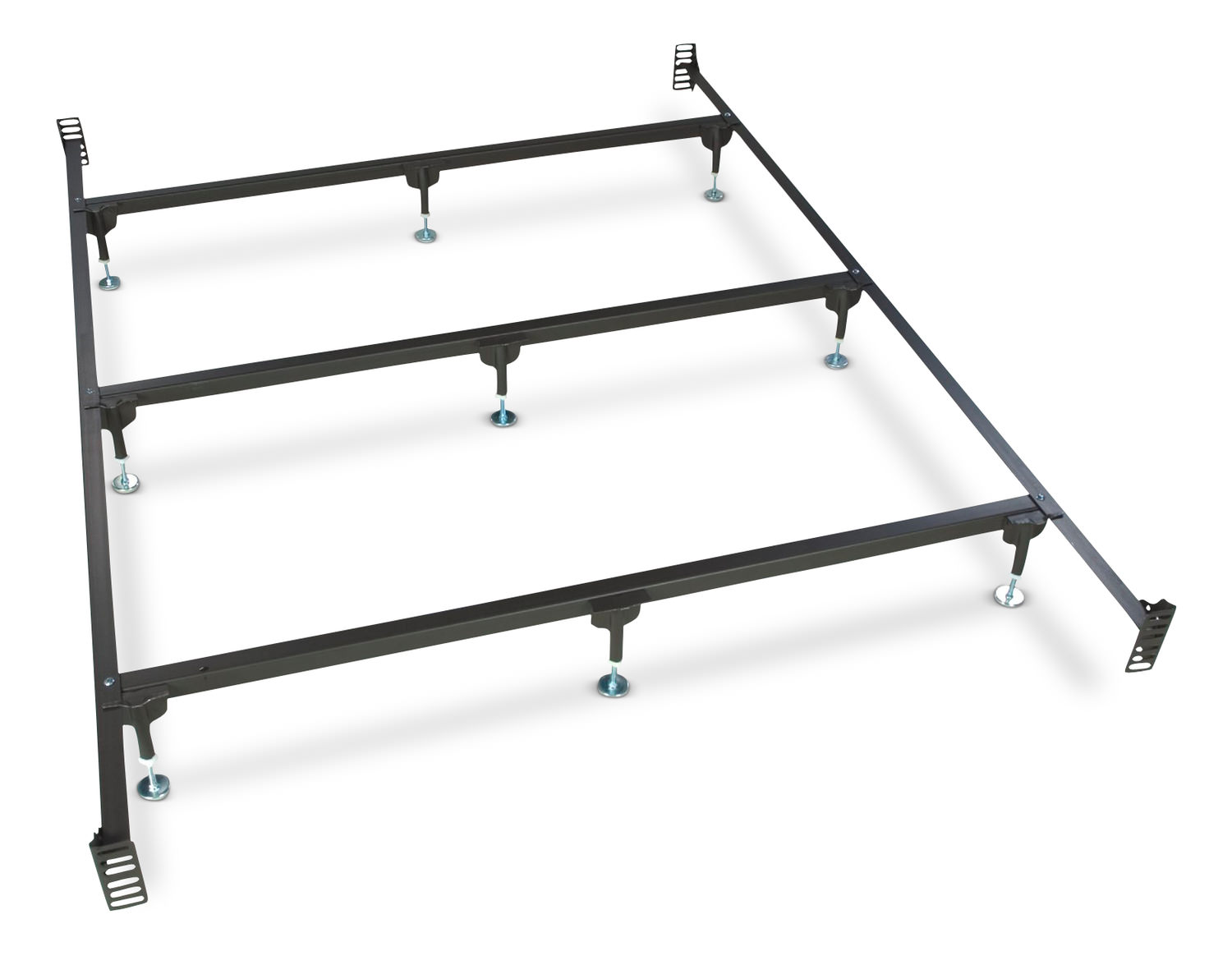 Metal Headboard/ Footboard Bed Frame - Queen Size by Glideaway ...