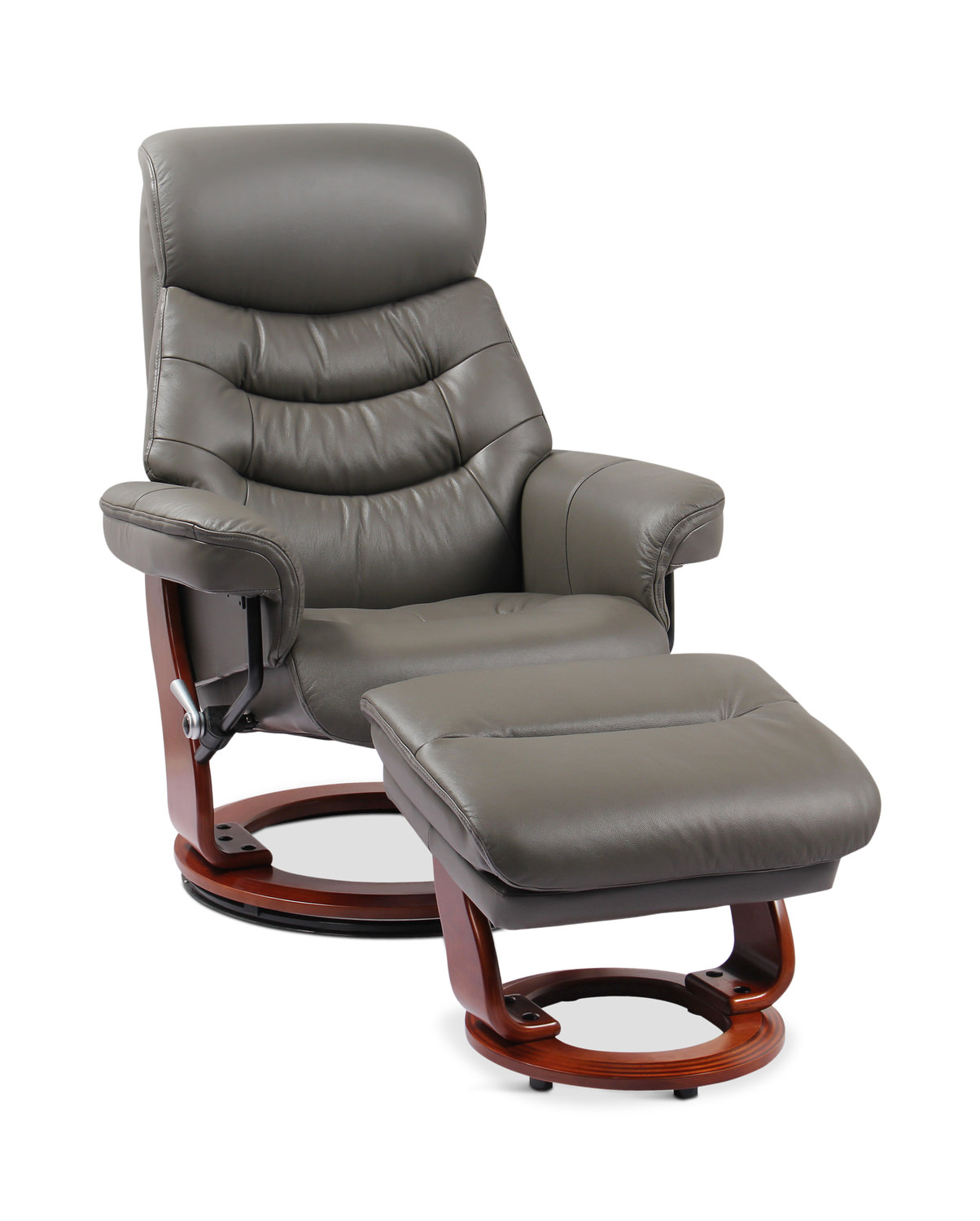Strange Kermit Leather Swivel Recliner And Ottoman Ibusinesslaw Wood Chair Design Ideas Ibusinesslaworg