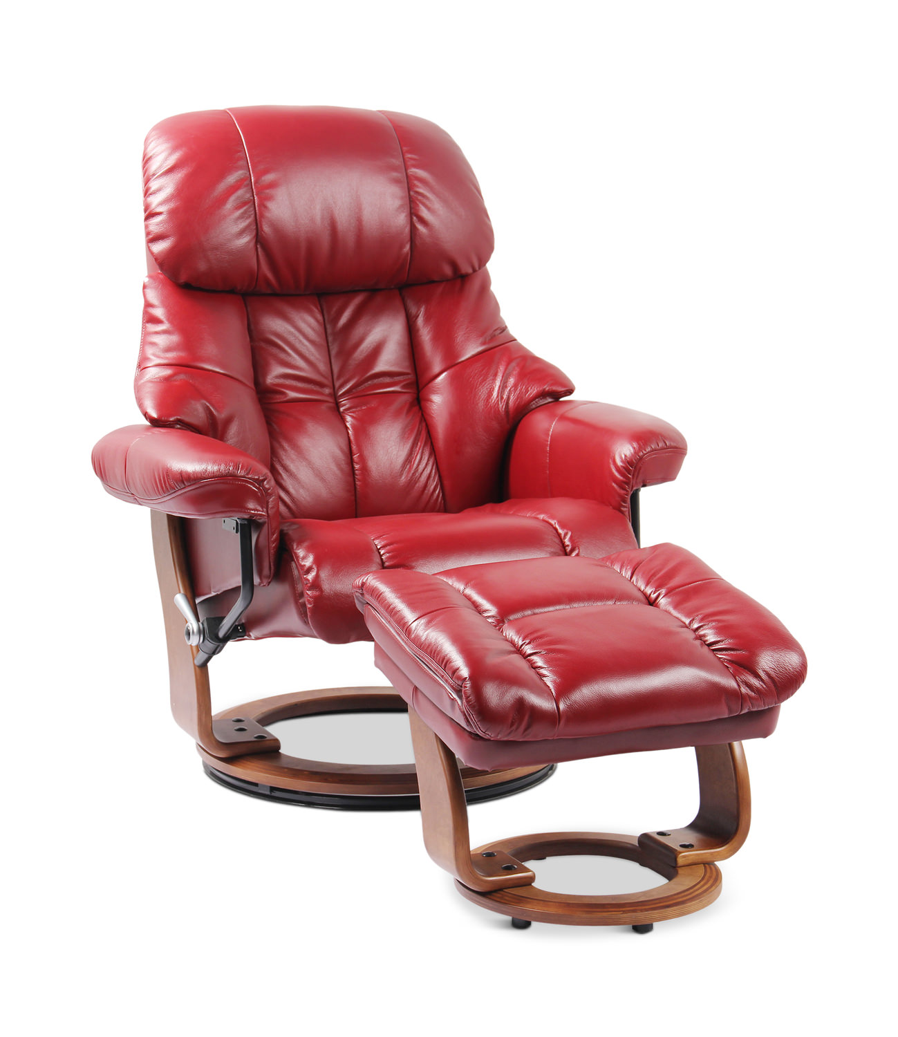 Awesome Ernie Leather Swivel Recliner And Ottoman Creativecarmelina Interior Chair Design Creativecarmelinacom
