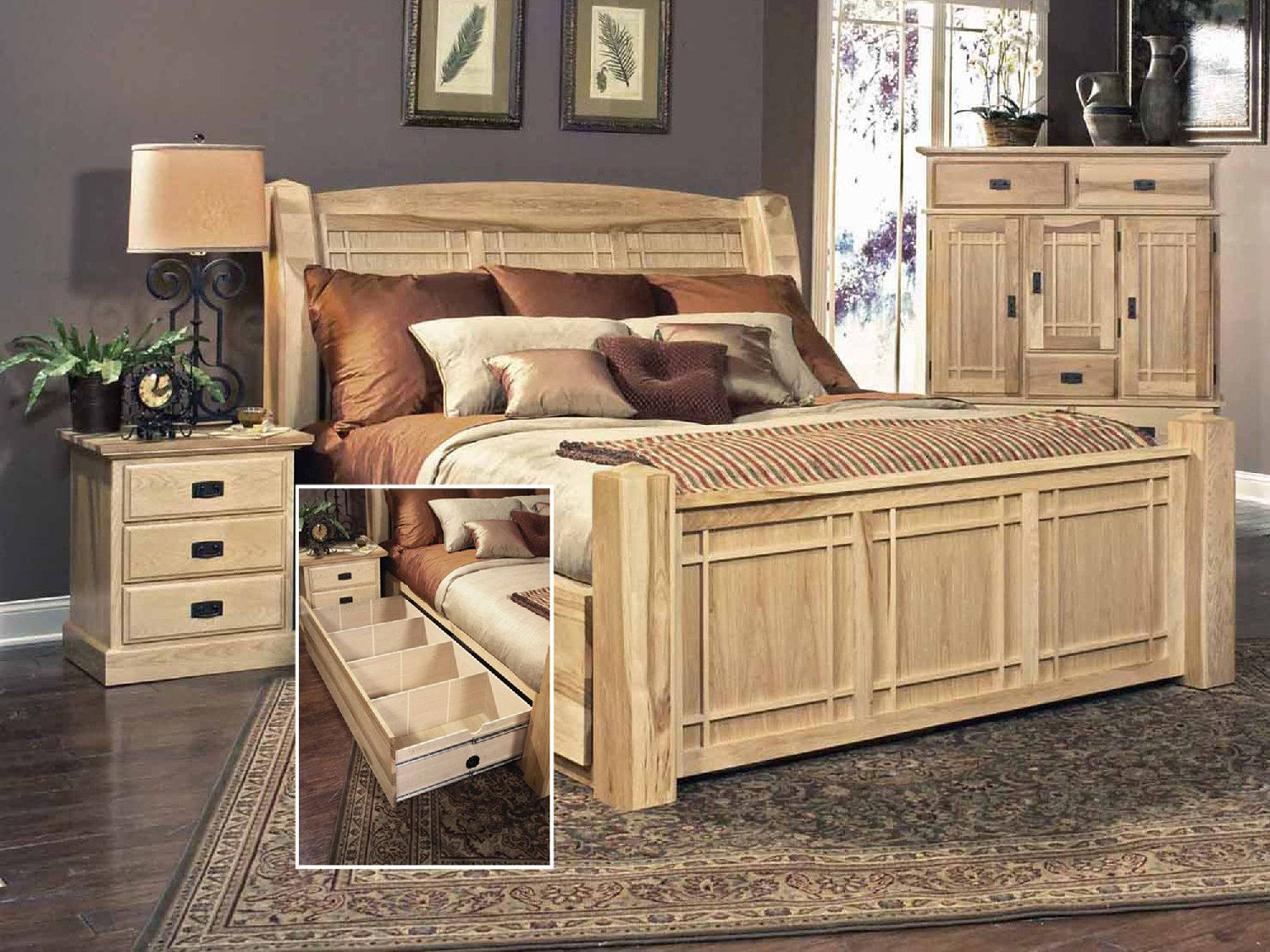Hickory Highlands Queen Storage Bed ...