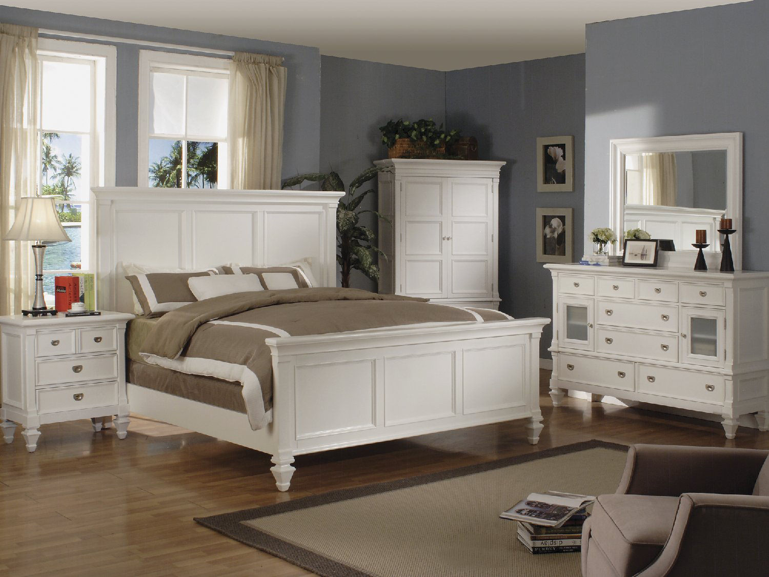 Summer Breeze White Panel Bedroom Suite By Thomas Cole Designs Hom Furniture