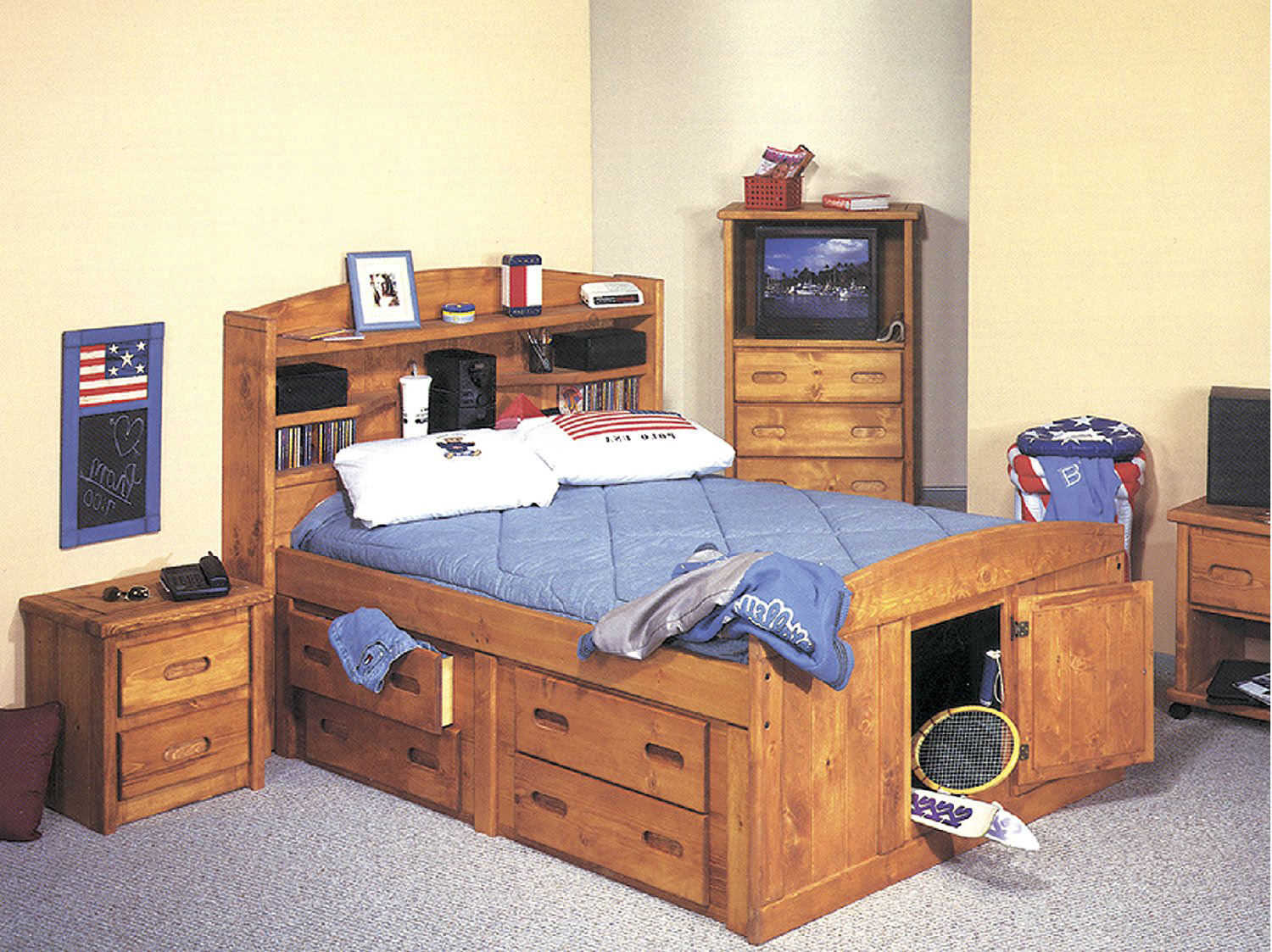 Palomino Twin Captains Bed With 2 Under Storage Units