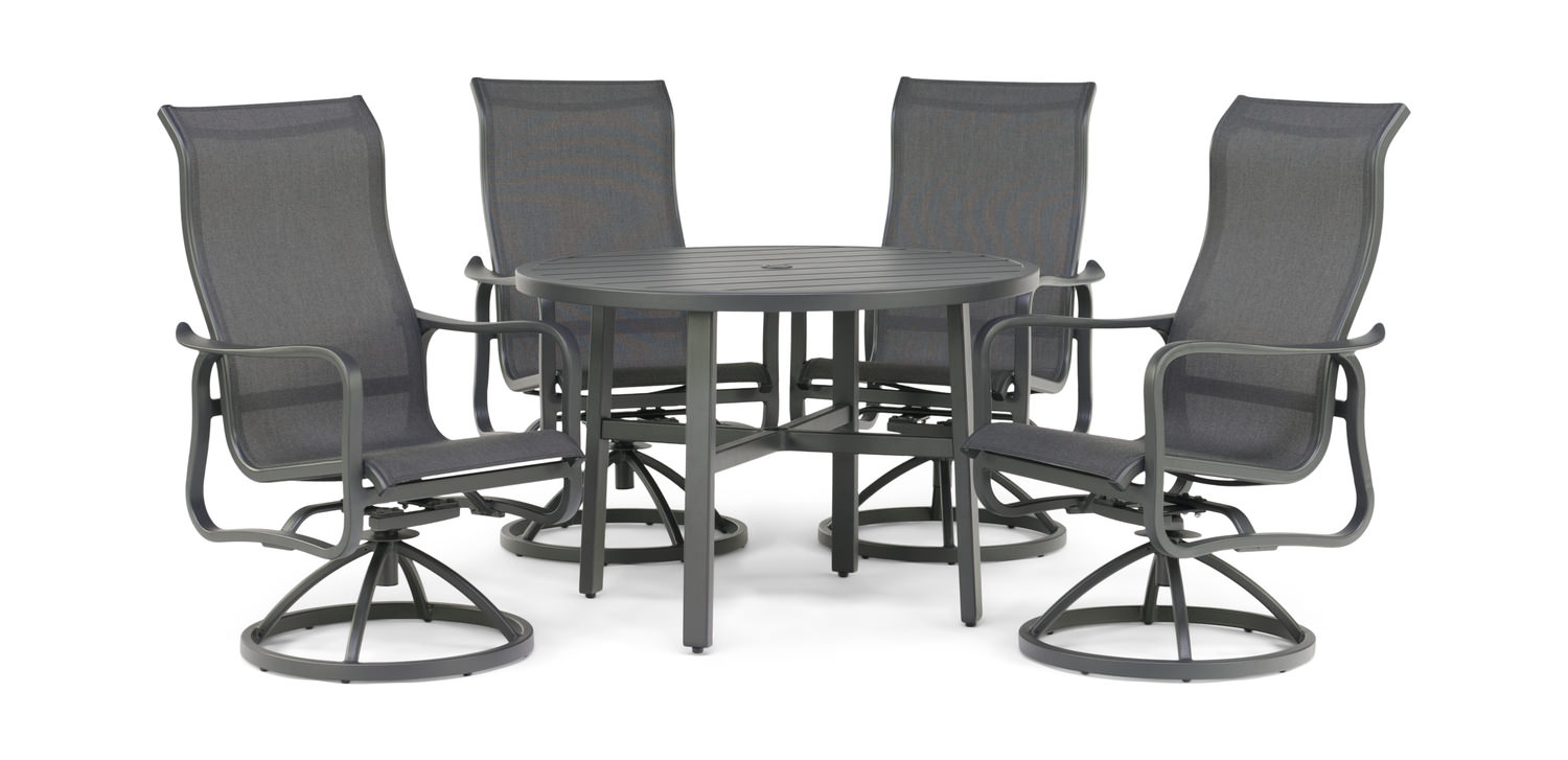 Surprising Cabrisa 5 Piece Patio Dining Set Short Links Chair Design For Home Short Linksinfo