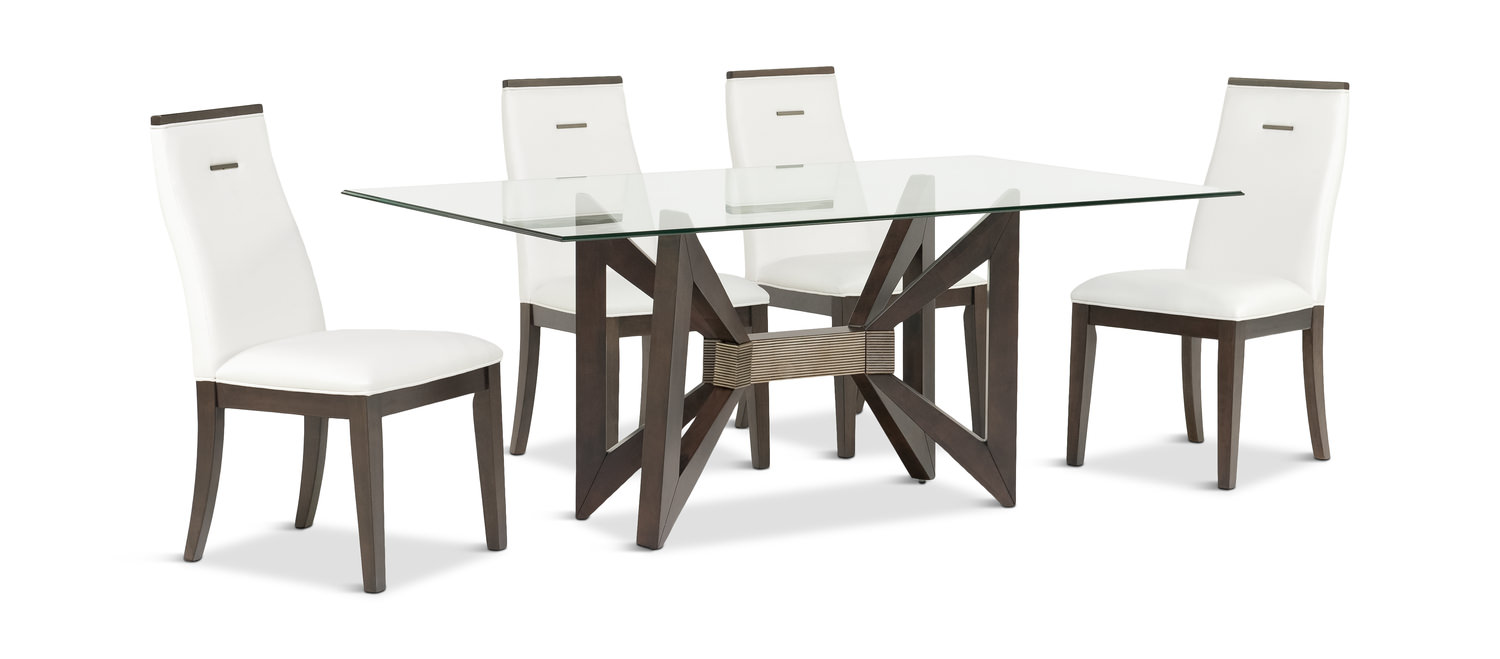 Tempo Gl Dining Table With 4 Chairs