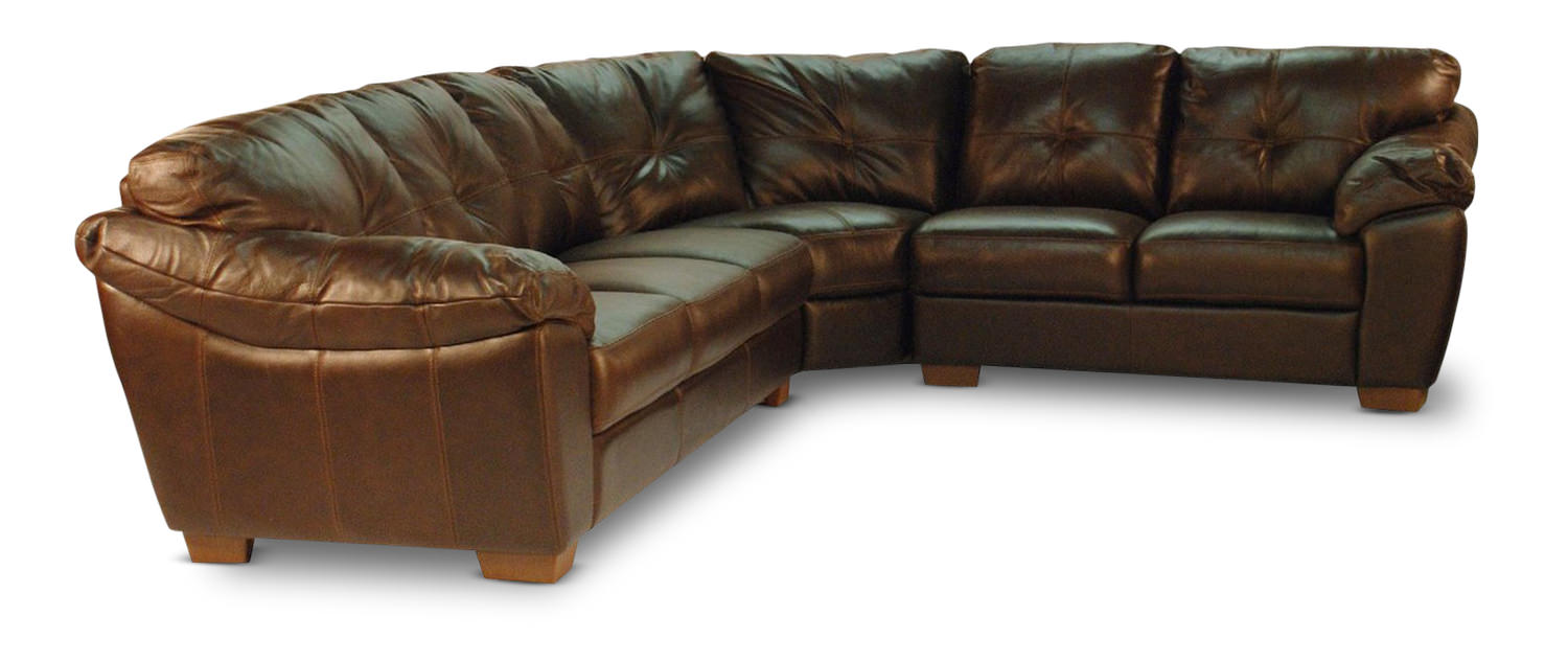 Phoenix 3 Piece Leather Sectional
