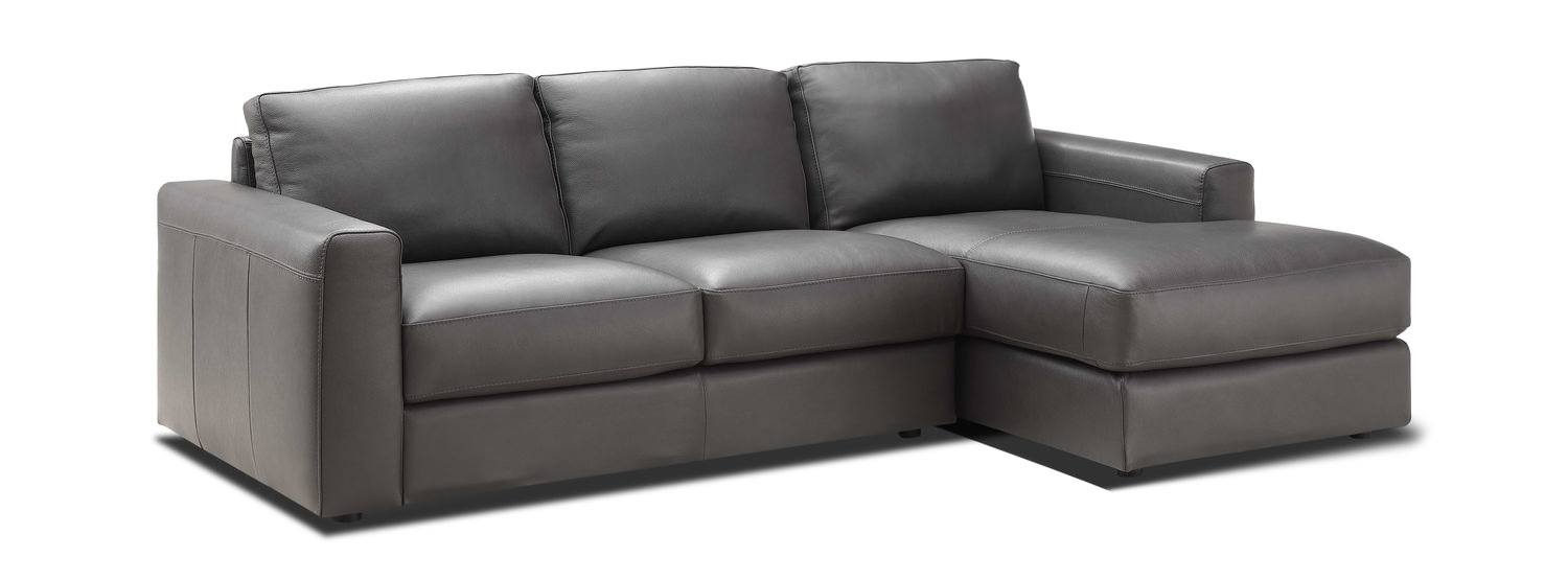 Roma 2 Piece Leather Modular Sectional