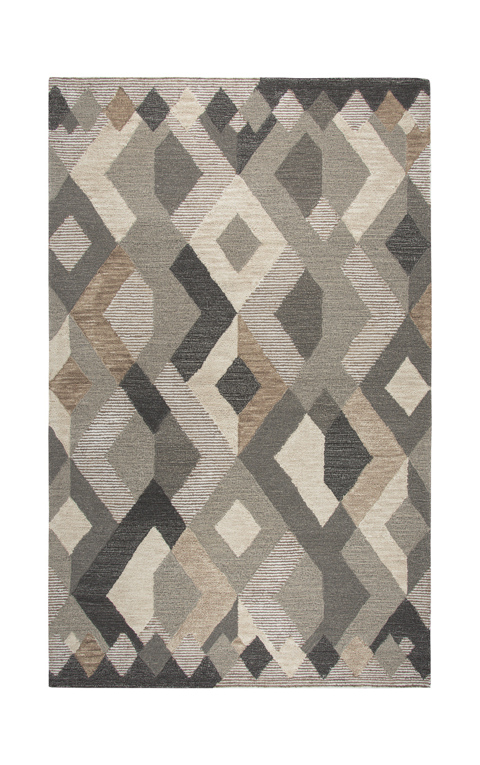 Idyllic Geometric Brown Area Rug By Rizzy Hom Furniture