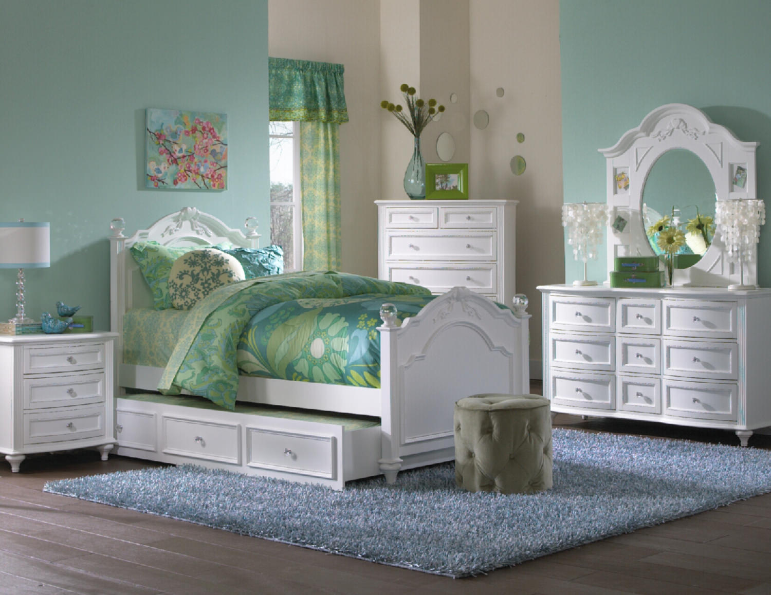 Chantilly Bedroom Suite White By Thomas Hom Furniture