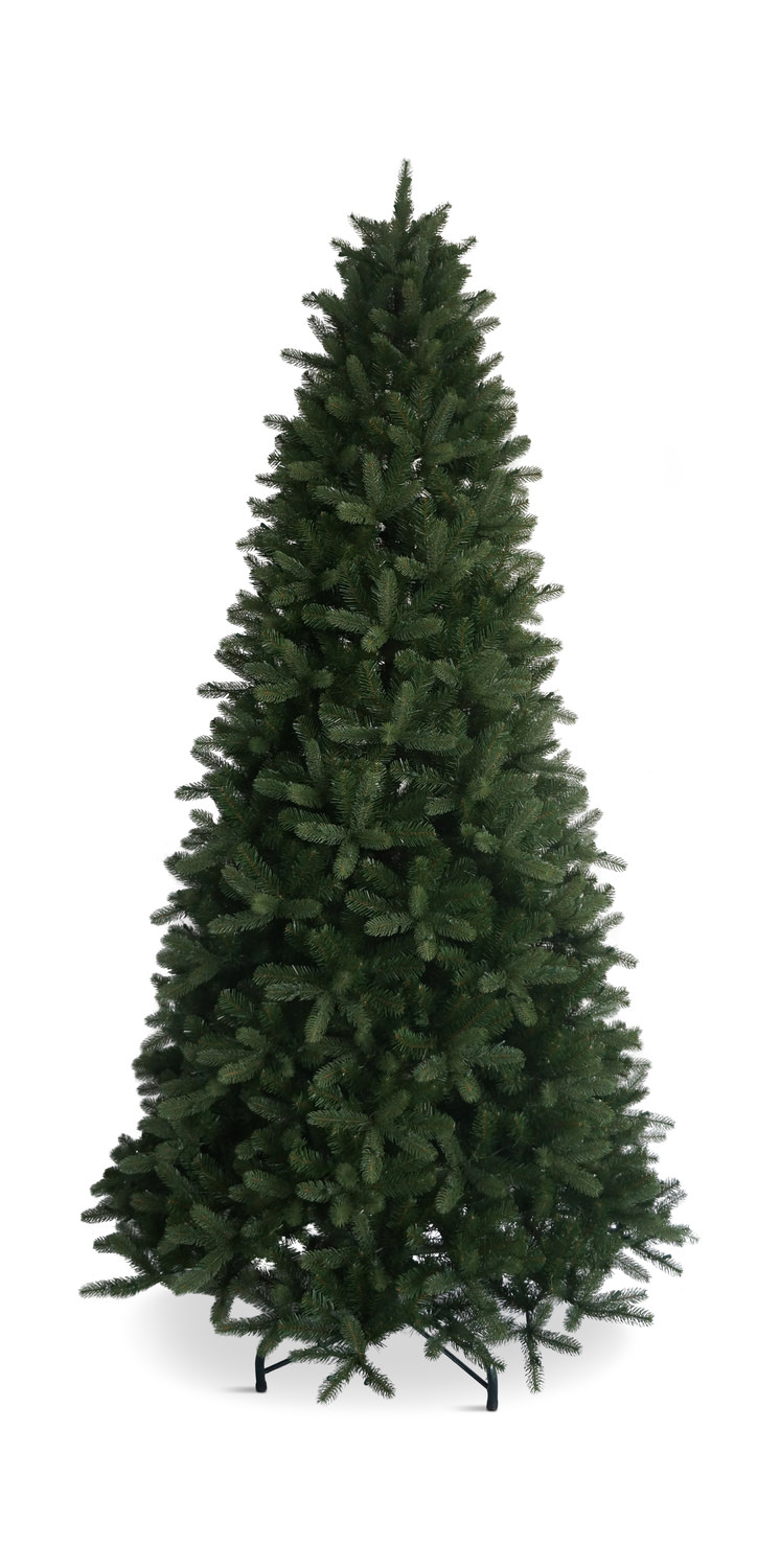 Monterey Pine 9′ Slim Artificial Christmas Tree With Clear Lights