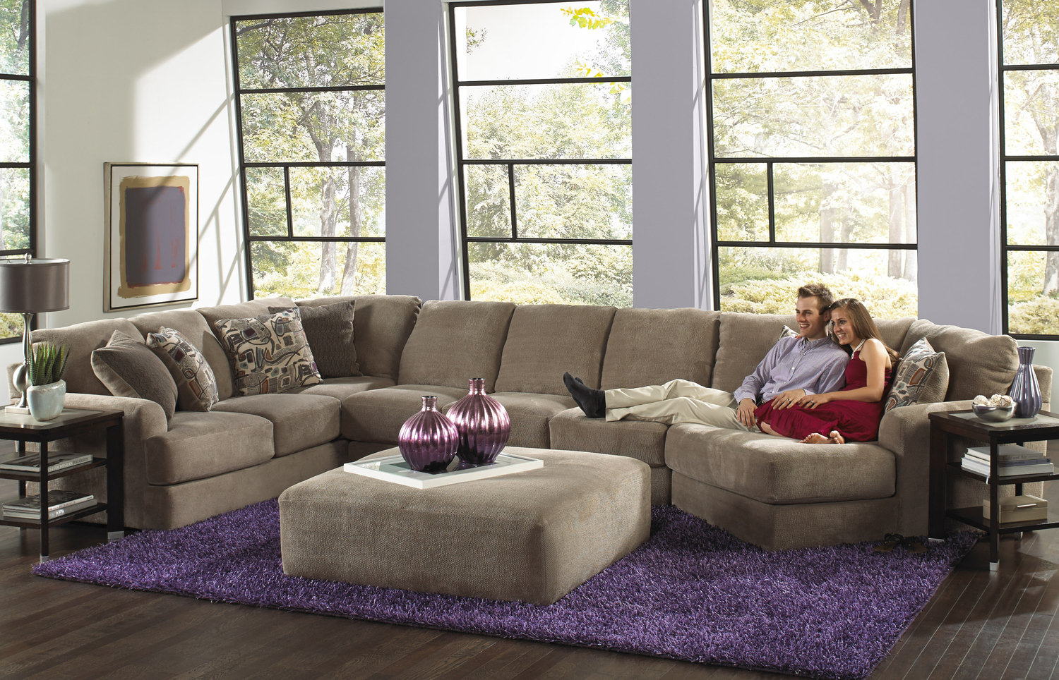 Regal 3-Piece Modular Sectional ... : sofa with cuddler sectional - Sectionals, Sofas & Couches