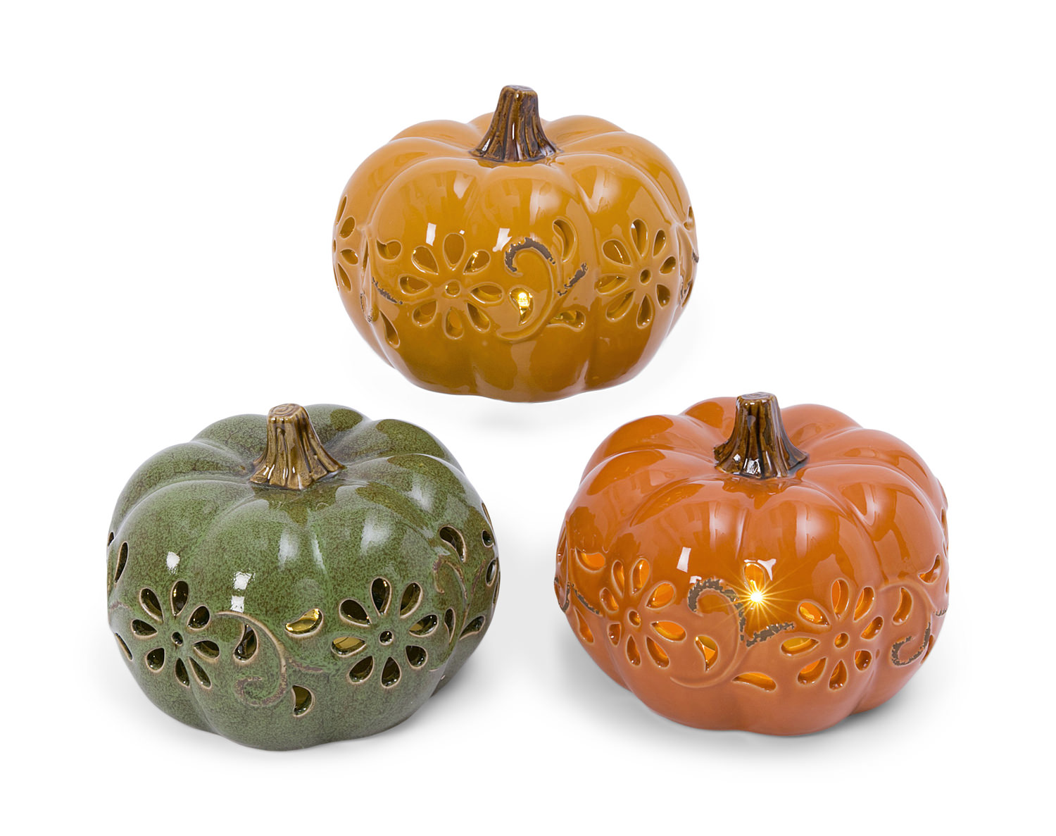 Assorted Ceramic Pumpkins Hom Furniture