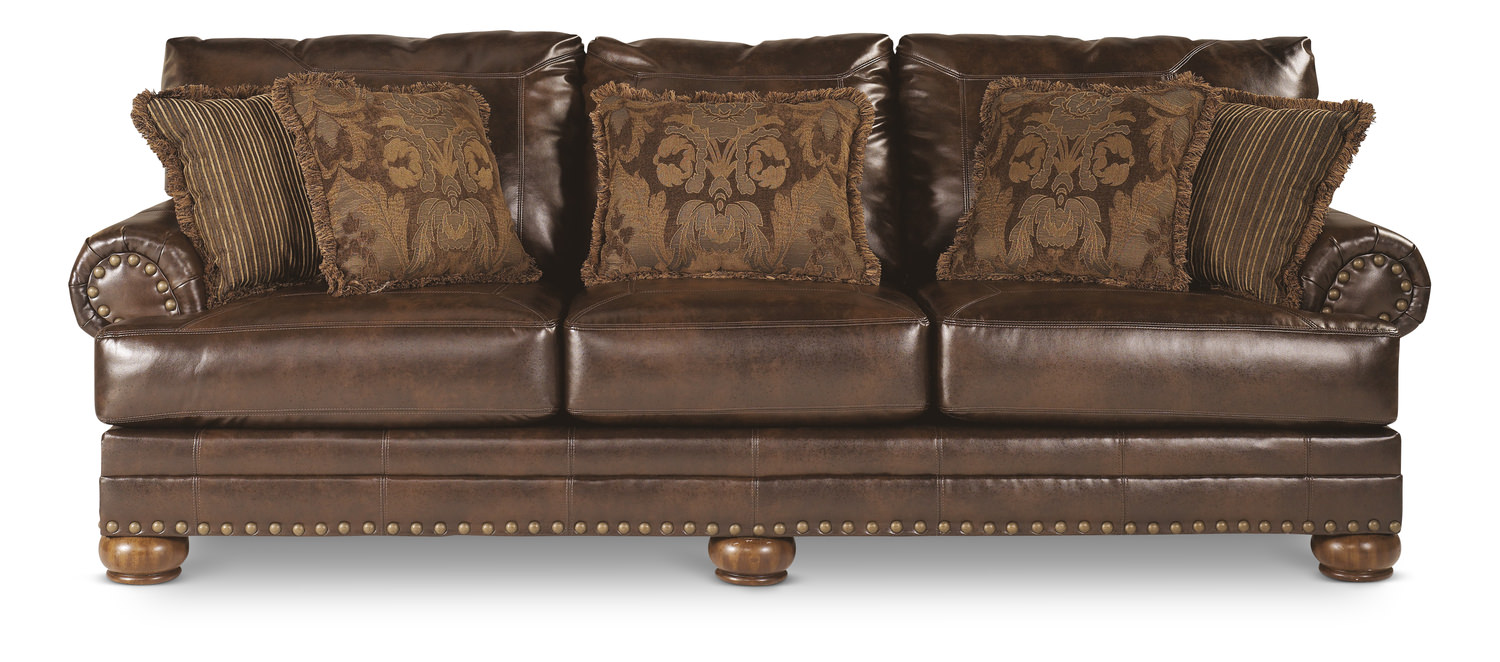 Bonded Leather Sofa Simmons Upholstery Soho Cardinal