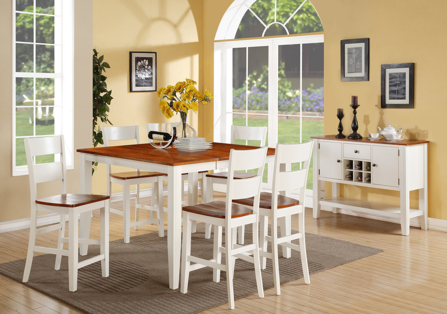 baxenburg counter height dining room set