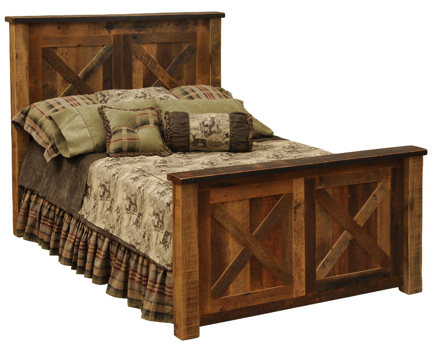 Barnwood Barndoor Queen Bed