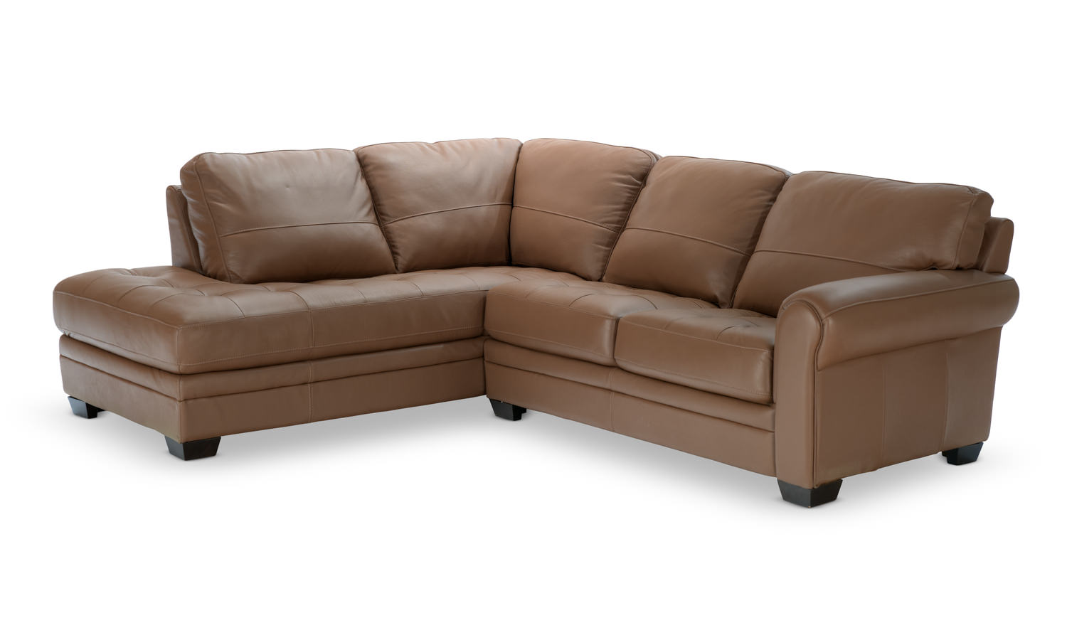 norman piece leather modular sectional  hom furniture  - norman piece modular sectional