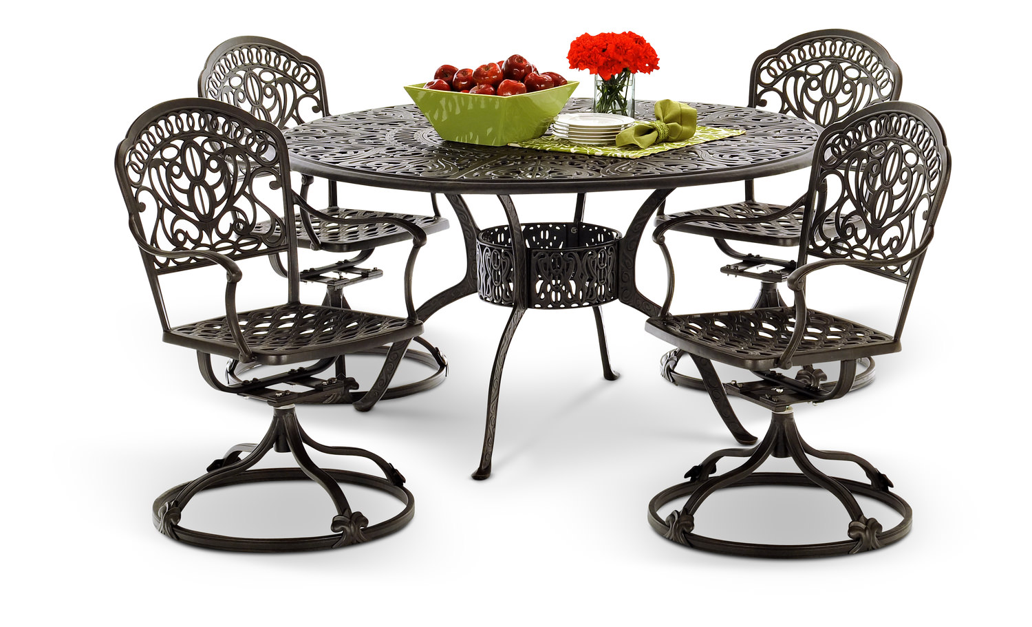 Tuscany 5 Piece Swivel Patio Dining Set By Hom Furniture