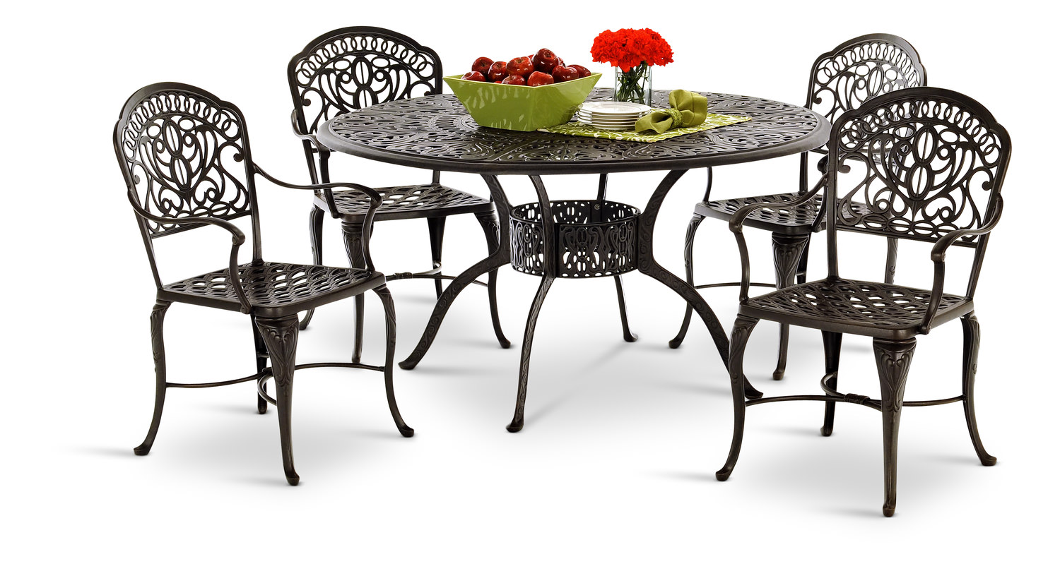 Tuscany 5 Piece Dining Set By Hanamint Hom Furniture