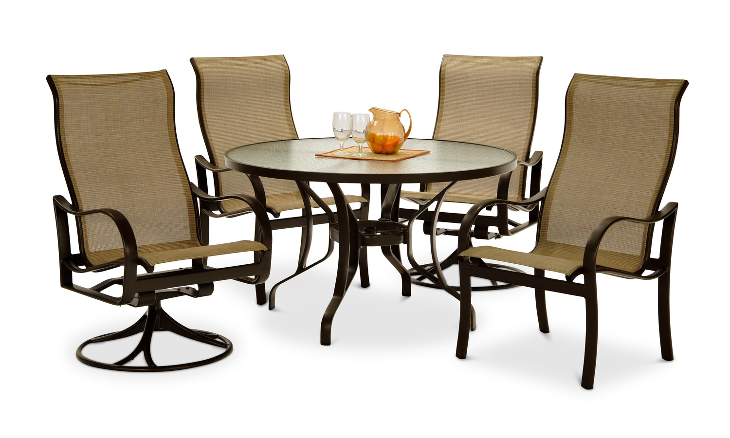 Shoreline 5 Piece Patio Set Rich Earth By Hom Furniture