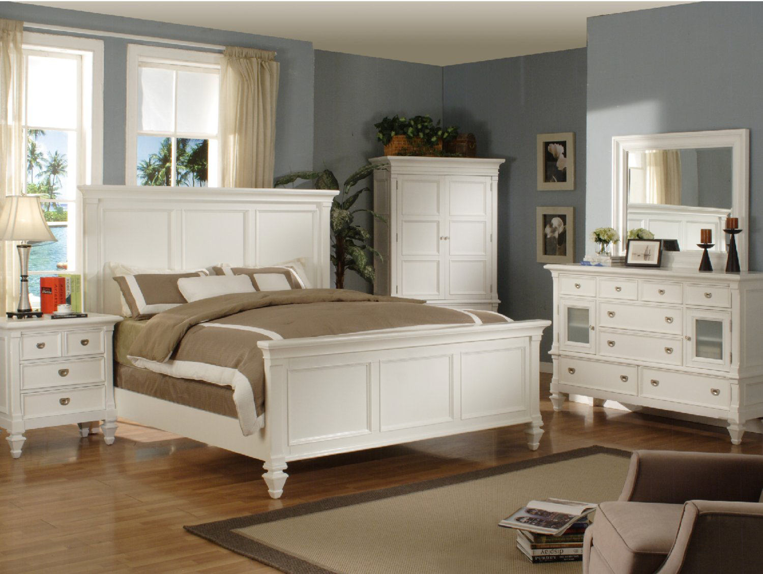 summer breeze queen white panel bed - Queen White Bed Frame