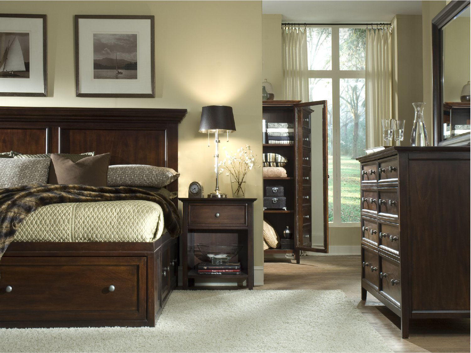 suite espresso storage es bedroom bed nightstand willow p cambridge sets piece king chest dresser mirror