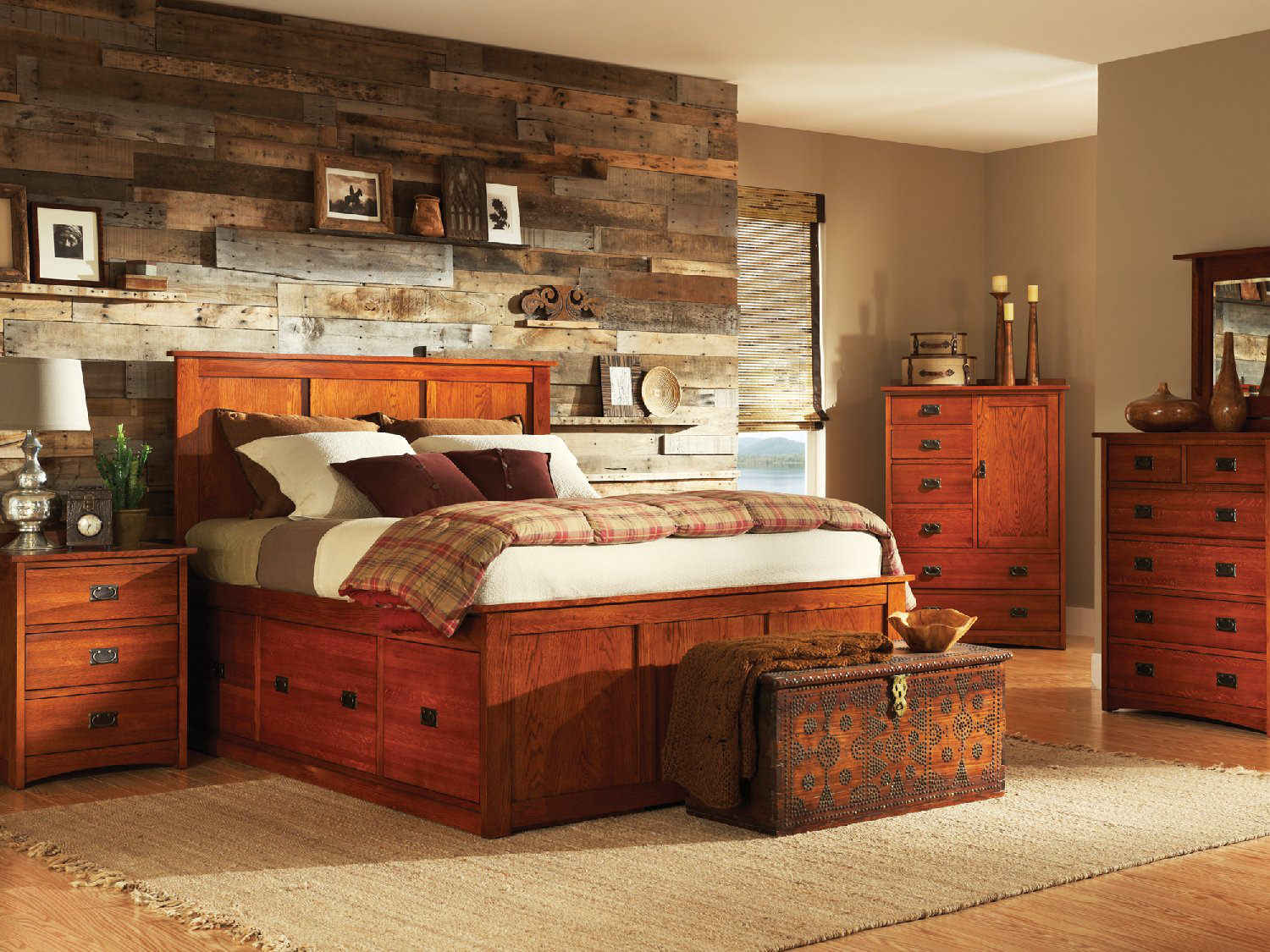 American Mission Ii Pedestal Bed Bedroom Suite Hom Furniture