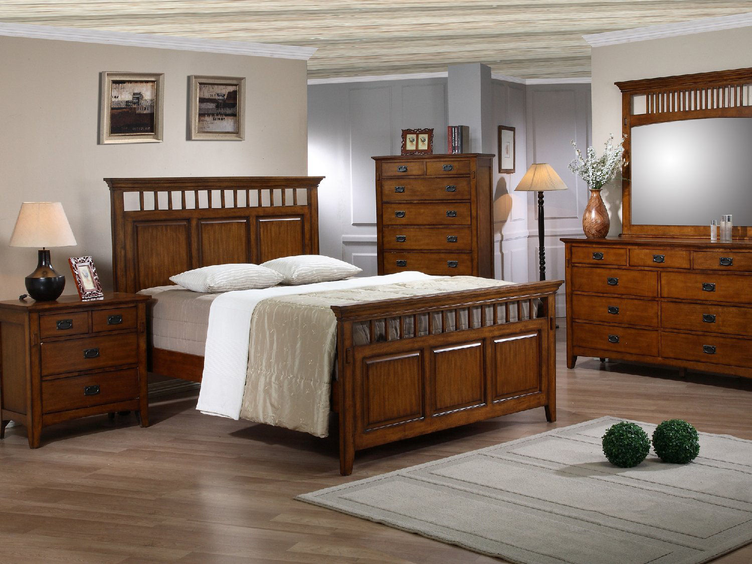 Beautiful Trudy Queen Panel Bedroom Suite ...