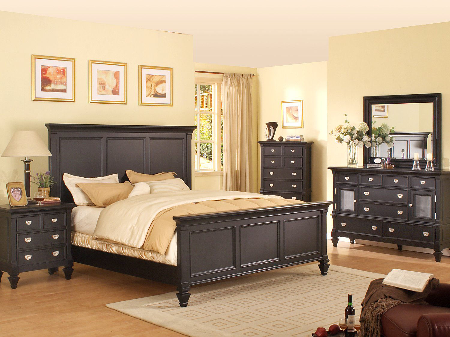 Summer Breeze Black Panel Bedroom Suite by Thomas Cole Designs | HOM ...