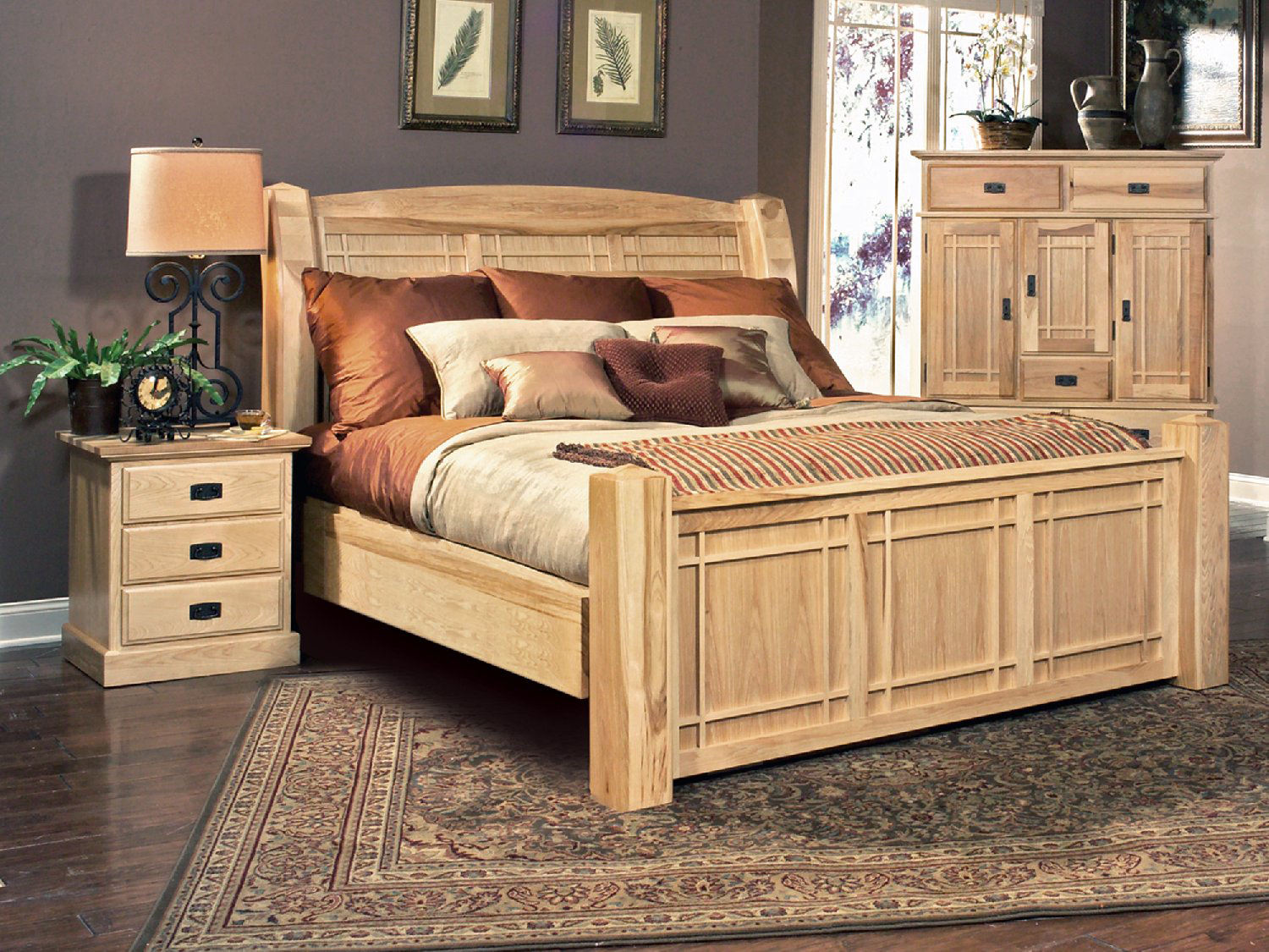 Hickory Highlands Queen Arch Bedroom Suite Without Storage Drawers ...