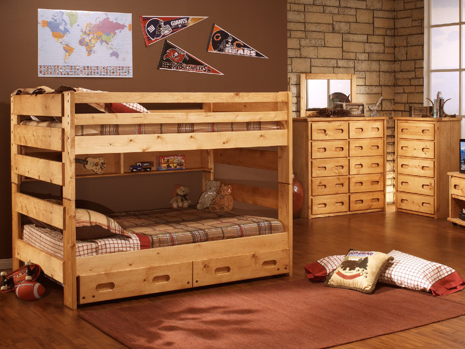 Big Sky Full Over Full Bunk Bed Hom Furniture