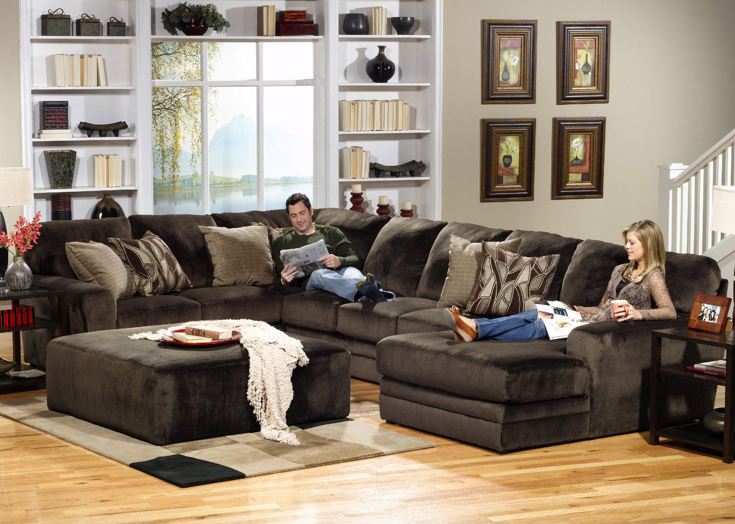 Rainier 3 piece sectional hom furniture - Family living room ideas ...