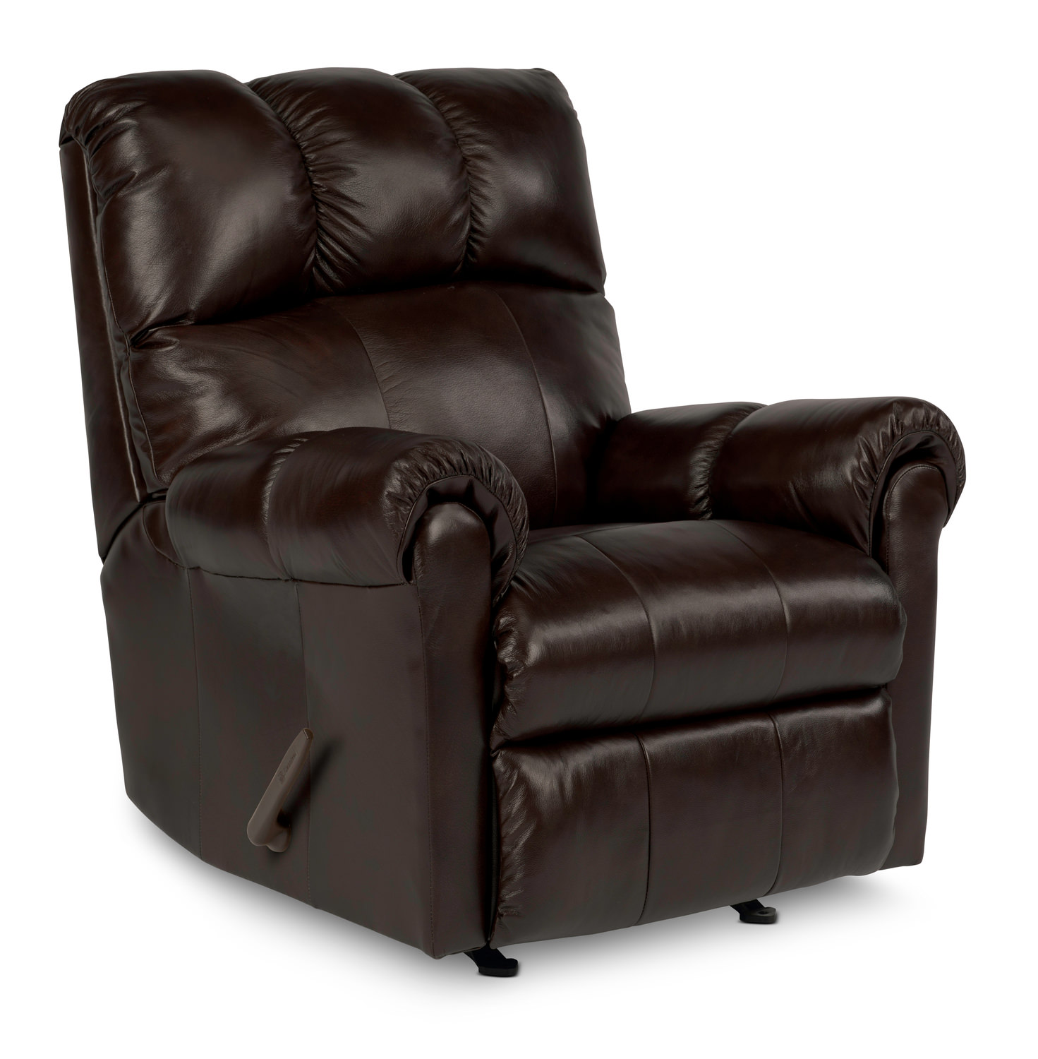 Mcgee Leather Rocker Recliner HOM Furniture