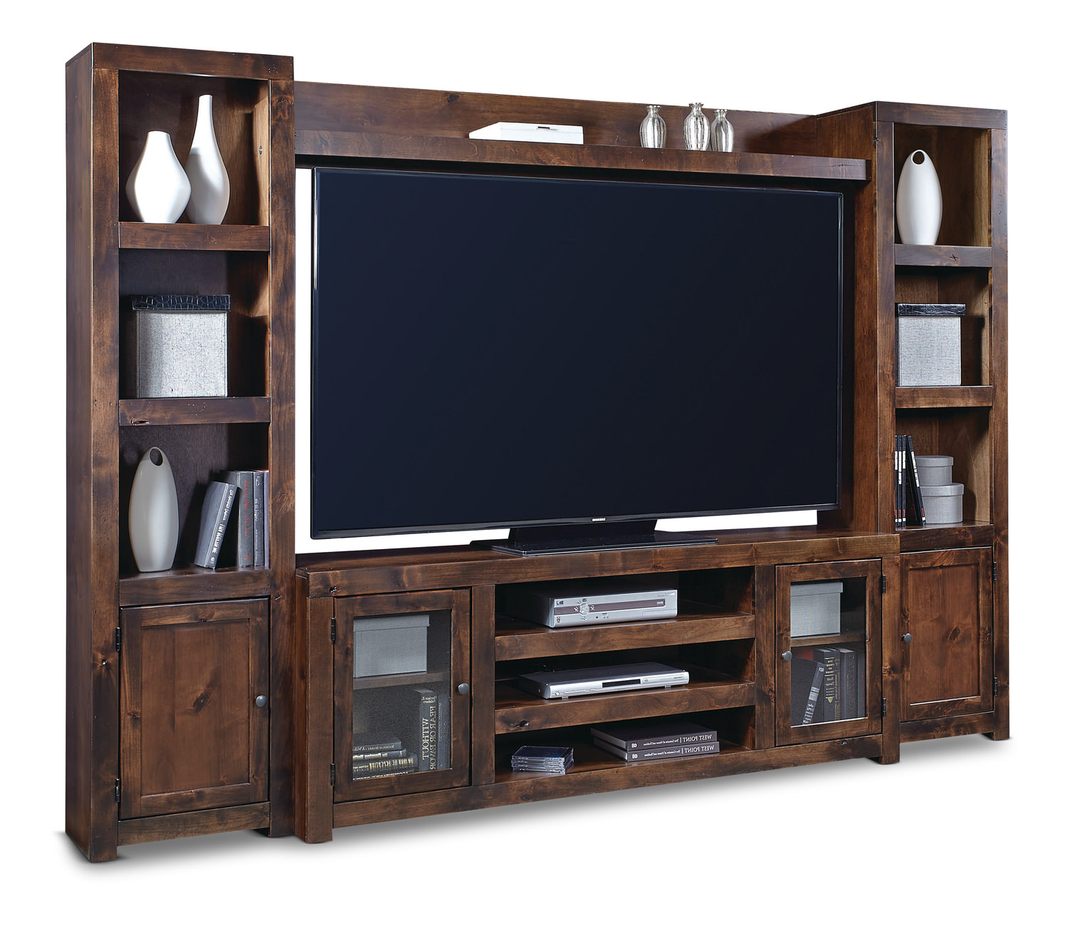 Wall Unit Equinox Knotty Alder Wall Unit  Hom Furniture  Furniture Stores