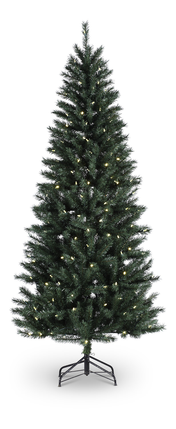 canyon pine 7 artificial christmas tree warm white led lights