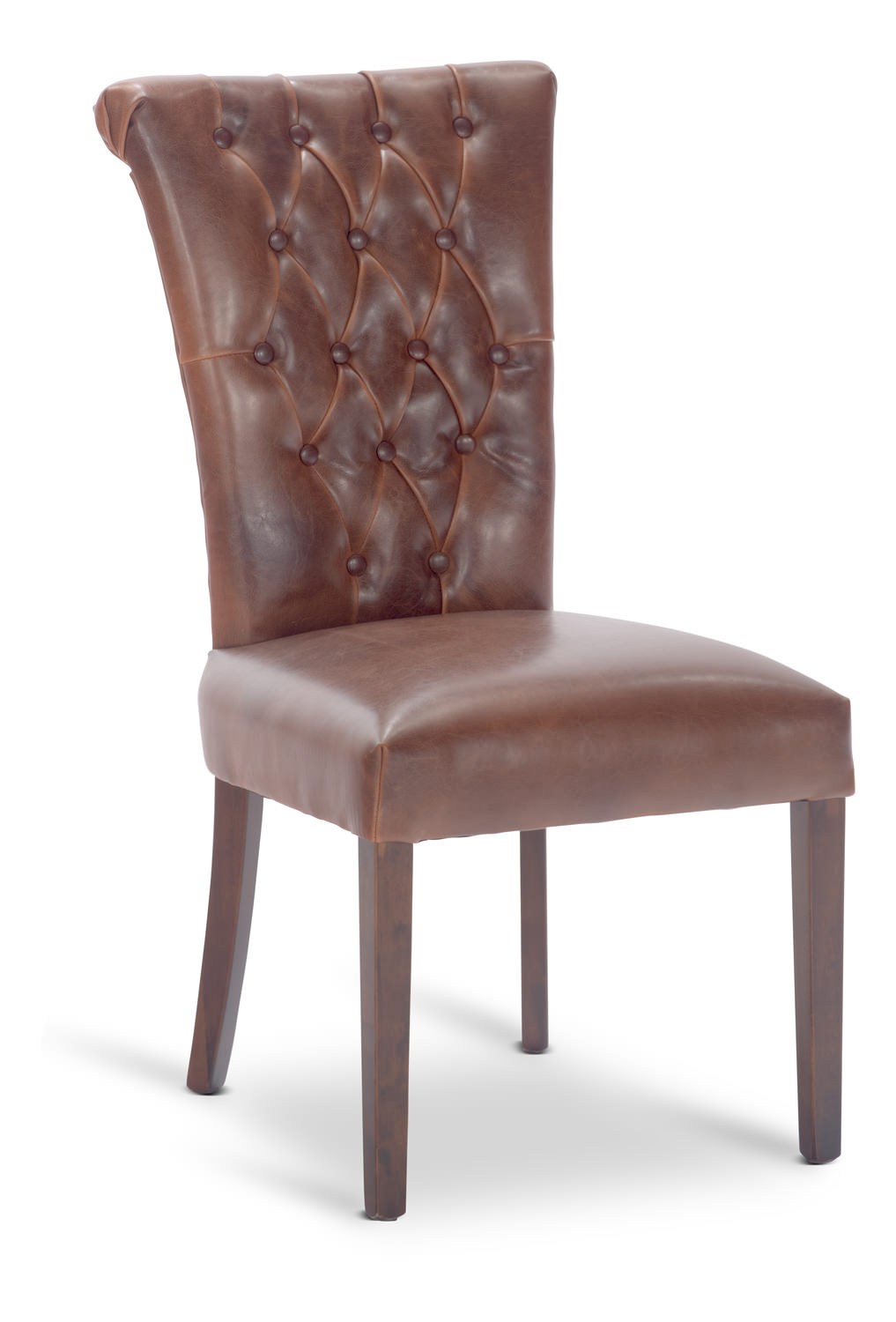 Tufted dining chair by thomas cole designs hom furniture for Tufted leather dining room chairs